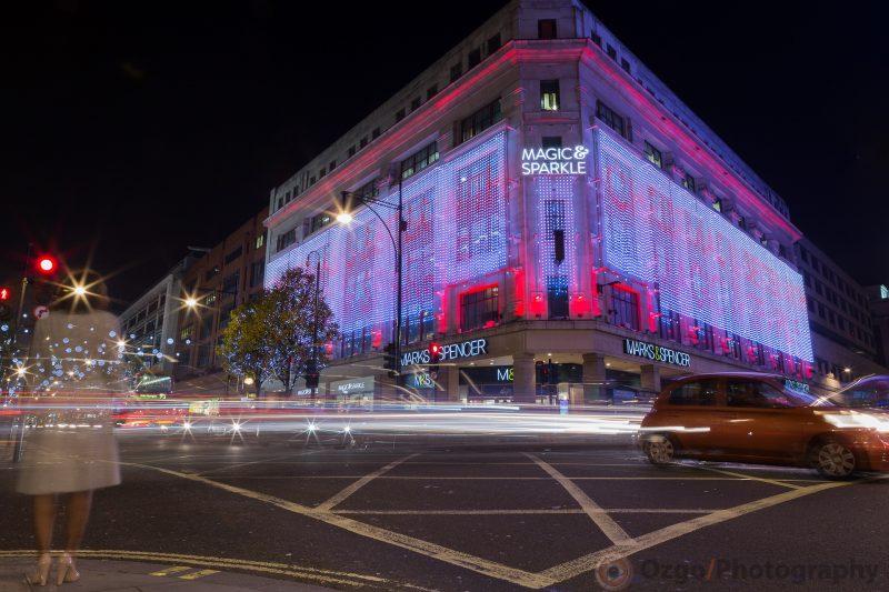Christmas Lights London, Marks and Spencer London Christmas lights 2014