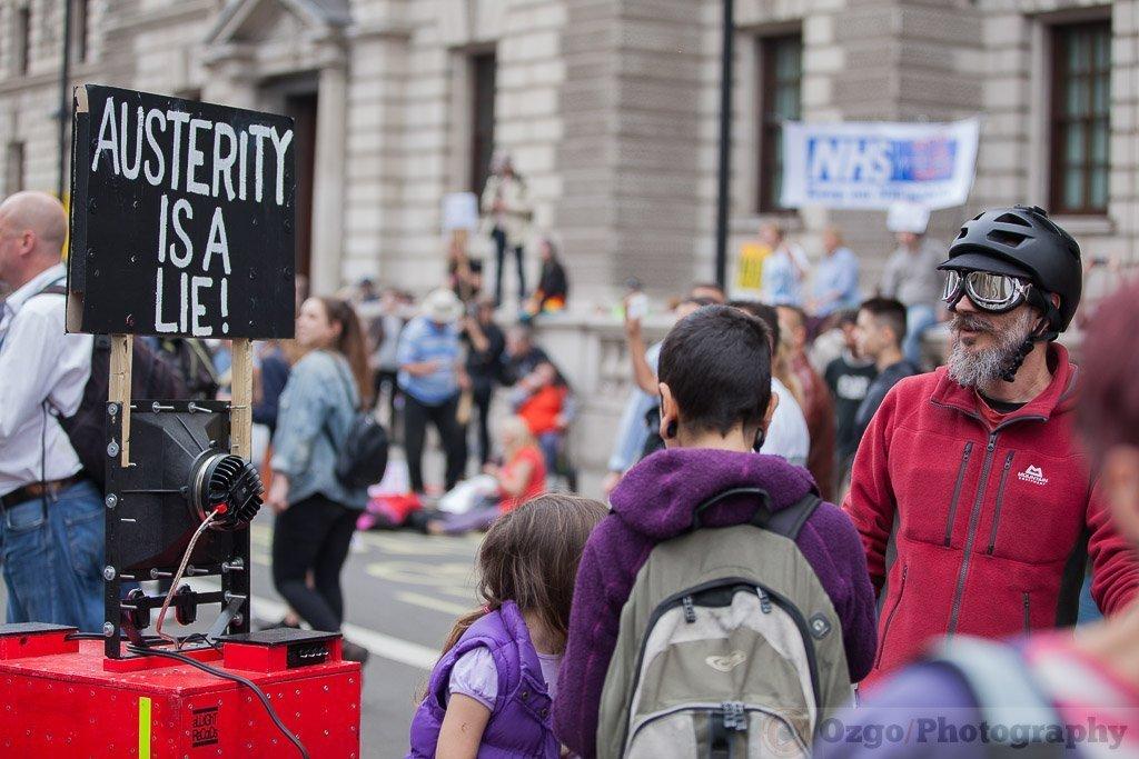 Anti-austerity demonstrations in London 2015