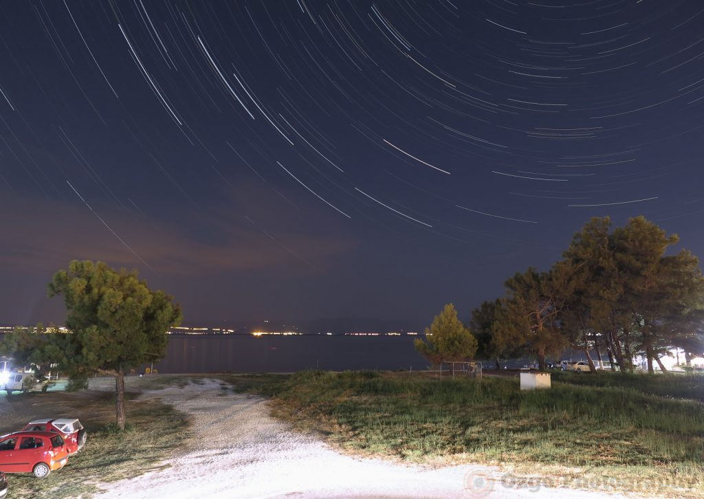 startrails from the villa balcony in Thassos