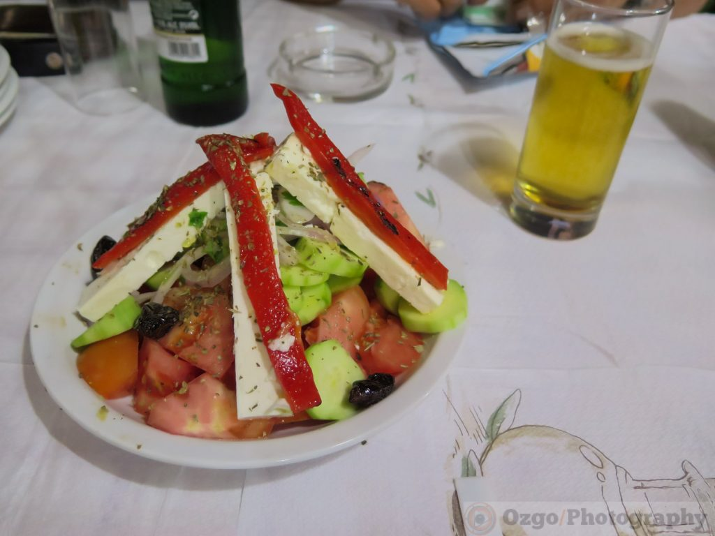 greek salad, Stelios Tavern, Theologos, Thassos, Greece