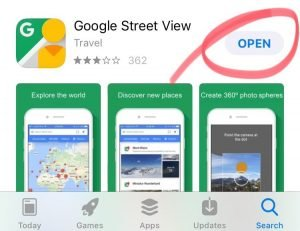 Download Google Street View from Apple's App Store