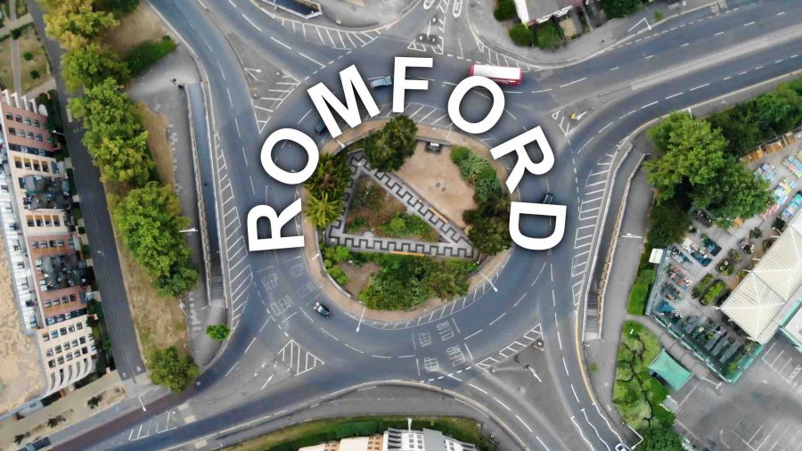 An aerial view of Romford