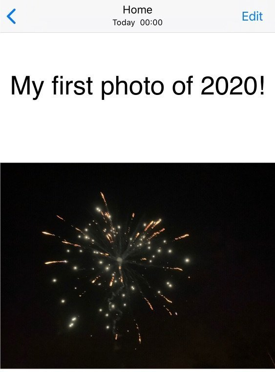 My first photo of 2020