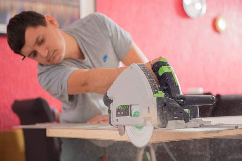 skilled carpenter at work